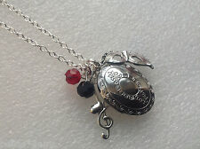 "Phantom of the Opera Quote Necklace, Locket "" THE MUSIC OF THE NIGHT""  , help me"