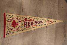 RARE Boston Red Sox World Series 1975 felt pennant banner flag champions fenway