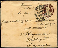 India 1927 KGV Stationery Cover Used In Burma Rangoon #C36898