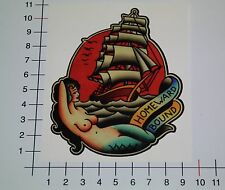 PIN UP SHIP GIRL Aufkleber Sticker Homeward Bound Sea Tattoo See Oldschool Pu064