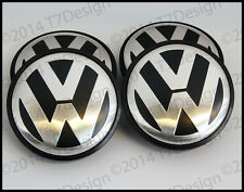 4x VW Alloy Wheel Centre Caps 65mm to fit Jetta, Polo, Passat, Bora, Golf