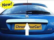 PEUGEOT 207 CHROME REAR TRUNK BOOT STRIPE LID REAR MOULDING COVER