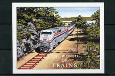 Liberia 2003 MNH World of Trains 1v S/S Railways Amtrak Züge Trenes Treni Stamps
