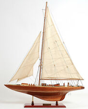"America's Cup 1933 Endeavour J Class Yacht Sailboat 24"" Built Wooden Model Boat"