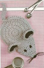 Crochet Pattern ~ MOUSE HOT MITT Potholder ~ Instructions