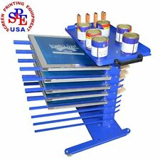 Screen Printing Materials Rack Place DIY Tools Aluminum Frame Mobile Table/Shelf