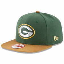 GREEN BAY PACKERS NEW ERA GOLD COLLECTION 9FIFTY SIDELINE SNAPBACK HAT CAP