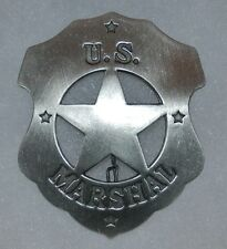 US Marshal Wyatt Earp or Matt Dillon Old West Replica Lawman Badge Deputy PH004