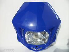 NEW POLISPORT BLUE ROAD LEGAL HEADLIGHT STREETFIGHTER ENDURO XT DRZ WR YZF DT YZ