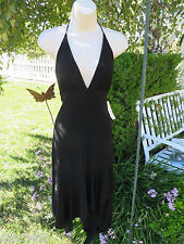 JUNO DRESS COLLECTION Black Asymmetrical Junior Prom Large Cocktail Halter