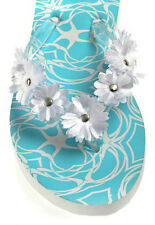 NWT Christopher & Banks Blue & White Starfish Flip Flop Sandals Shoes S (5 -6)