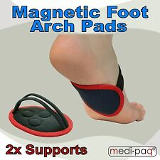 MEDIPAQ™ 2x Magnetic Foot Arch Pads - Feet Pain Relief Plantar Fasciitis Support