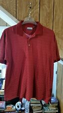 REEBOK GOLF POLO RED LARGE SHORT SLEEVE