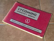 Lycoming O-320-A Engine Operator's Manual