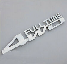 Chrome metal 4WD FULL TIME car sticker badge SUV auto rear decal tailgate emblem