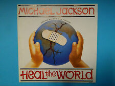 "Michael Jackson Heal the world 7"" Single Vinyl Special Poster Bag Edition - NM"