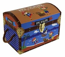 Kids Children's Pirate Toy Storage Box Treasure Chest Cardboard Box Trunk Medium
