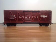 """HO Scale """"The Katy"""" 40' MKT 47150 Livestock Cattle Freight Train Car / Brown"""