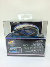 2.4GHz Wireless BlueTrace Mouse Mice USB Receiver PC Mac - Blue M715R-BL