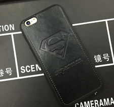 "Black 7G Superman PU LEATHER PHONE MATE HARD CASE COVER IPHONE 7 4.7"""