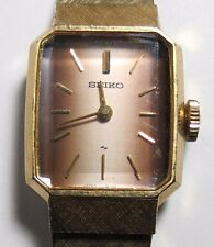 VINTAGE WOMENS SEIKO WINDING WRISTWATCH WATCH RUNS GOLD PLATED
