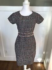$158 J.Crew Shift Dress In Multi Color Tweed G0200 2P