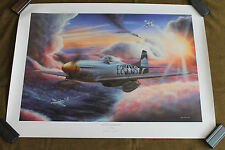 """Original WW2 P51 """"Into the Danger Zone"""" Print from AAF Air Gunners Estate, Weiss"""
