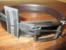NWT Steve Madden Men's  Reversible Black & Brown Leather Belt Size 38 Msrp $40