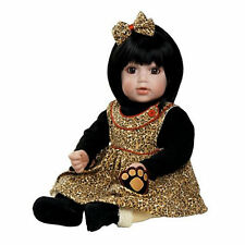 "Adora 20"" BABY PLAY DOLL SASSY SAFARI Black Hair Suede Boots Shearling NEW"