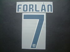 FORLAN NOME+NUMERO HOME ATLETICO MADRID 2009-2010 OFFICIAL NAMESET