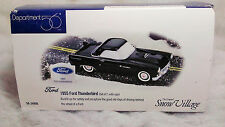 Department 56 Snow Village 1955 Black Ford Thunderbird & Sign-Excellent with Box