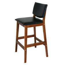 Bar Stool Seat Modern Height  Kitchen Dinning Chair Walnut Color Heavy Duty New