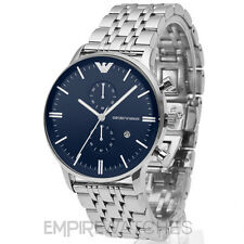 *NEW* MENS EMPORIO ARMANI GIANNI BLUE STEEL WATCH - AR1648 - RRP £379.00