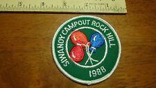 VINTAGE SIWANOY CAMPOUT ROCK HILL CAROLINA 1988 GIRL SCOUT PATCH  PATCH BX J 24
