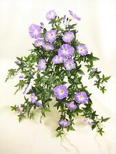 Artificial Flowers Wired Lilac Morning Glory Trailing Plant for Hanging Baskets