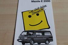 117968) Mazda E 2000 Prospekt 09/1989
