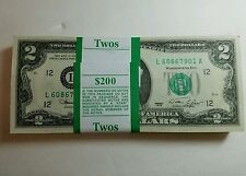 *RARE* NEW Uncirculated Consecutive Two Dollar Bill Crisp $2 Note 1976 - 2013