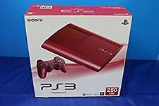 PS3 Garnet Red 250gb Console PS3 System Japan *GOOD CONDITION - COMPLETE*
