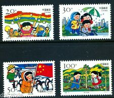 Children's Activities set of 4 mnh stamps China 1996-12 flag penguin wheelchair