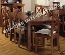 Solid wood 9 pcs Dining Set  -  1 table + 8 chairs !