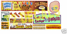 HO Scale Circus Sideshow Carnival Food & Beverage Signage Decals #5
