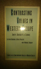 Contrasting Values in Western Europe by Stephen Harding, Michael P. Fogarty,...
