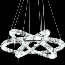 Modern Galaxy LED K9 Crystal Ring Chandelier Pendant Light Ceiling Lighting