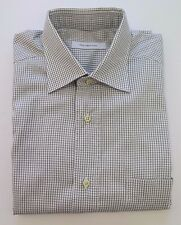 Ermenegildo Zegna Portofino Comfort Cotton Checks Dress Shirt Euro 39 15 1/2 EUC