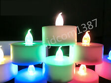 Color Flameless LED Tealight Tea Candles Party Wedding Light Lamp