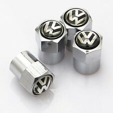 4 pcs VOLKSWAGEN TYRE ALLOY WHEELs AIR stem VALVE CAP POLO JETTA VENTO AMEO GTI