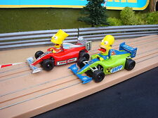 PAIR OF BRAND NEW MICRO SCALEXTRIC SIMPSONS CARS - LOADS MORE CARS FOR SALE