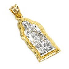14k Two-tone Gold Virgin Mary Virgen Maria De Guadalupe Small Religious Pendant