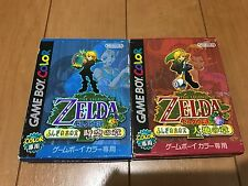 Legend of Zelda Oracle of Seasons and Ages with BOX and Manual japan GB54