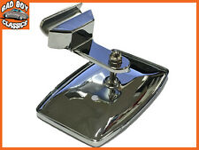 Polished Stainless Steel Clip on Overtaking 1/4 Light Mirror For CLASSIC CAR